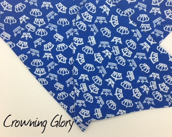 Dog Bandana, Crowning Glory, Blue Dog  Neckerchief
