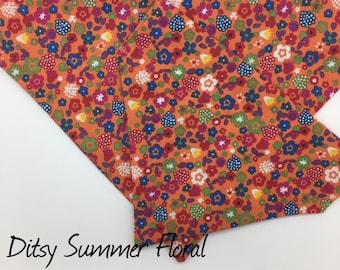 Dog Bandana, Ditsy Summer Floral, Pretty Neckerchief