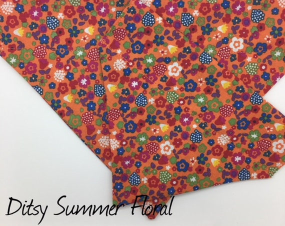 Ditsy Summer Floral Dog Bandana, Floral Bandana, Summer Dog Bandana, Luxury Dog Bandana.
