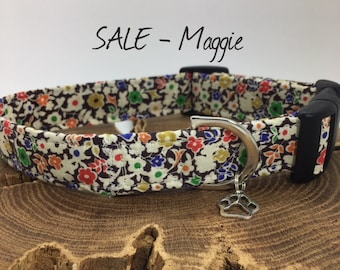 Sale Dog Collar, Maggie, Floral Collar