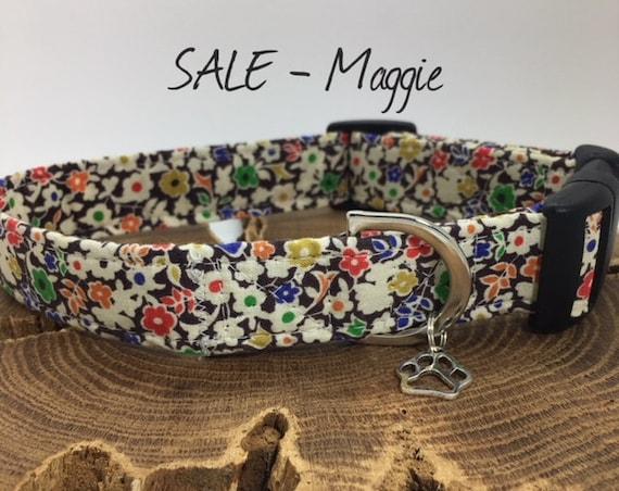 Sale Dog Collar, Floral Dog Collar, Maggie Dog Collar, Dog Collar UK