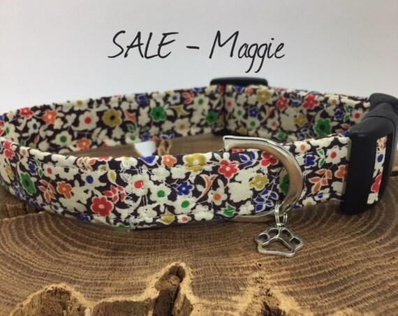 Sale Dog Collar, Maggie, Floral Dog Collar
