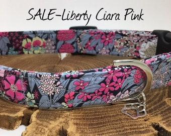 Sale Dog Collar, Ciara Pink, Liberty Dog Collar