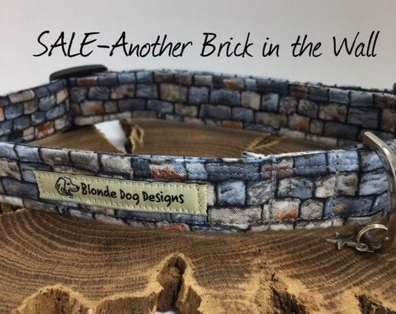 Sale Dog Collar, Dog Collar, Another Brick In The Wall, Grey Dog Collar, Luxury Dog Collar