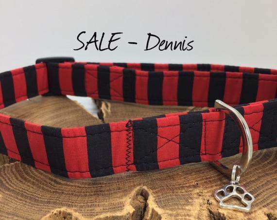 Sale Dog Collar, Dennis, Striped Dog Collar, Dog Collar Sale, Cute Dog Collar, Striped Collar, Luxury Dog Collar.