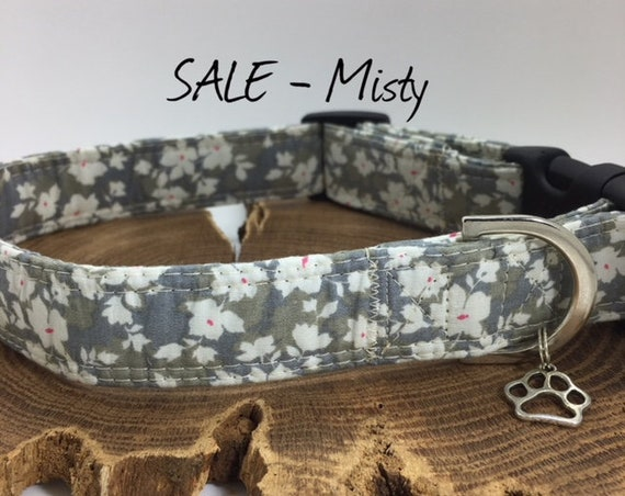 Sale Dog Collar, Misty, Floral Dog Collar