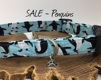 Sale Dog Collar, Penguins, Cute Collar