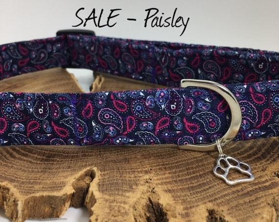 Sale Dog Collar, Paisley Dog Collar, Luxury Dog Collar, Dog Collar Sale