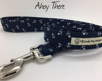 Anchor Dog Lead, Ahoy There, Nautical Lead