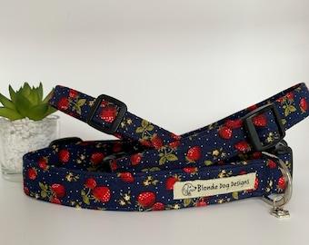 Strawberry Dog Collar, or, Strawberry Dog Lead, Strawberry Fields