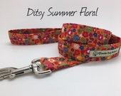 Ditsy Summer Floral Dog Lead, Floral Dog Leash
