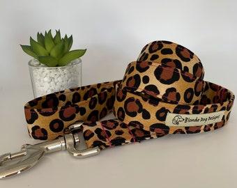 Leopard Print Dog Lead, Leopardess, Animal Print Lead