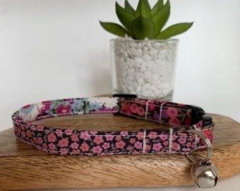 Liberty Cat Collar, Katherine's Patchwork, Floral Collar