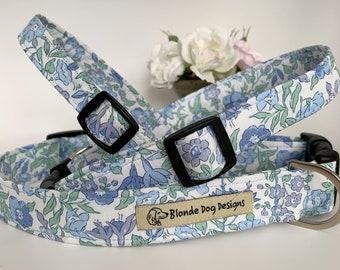 Liberty Dog Collar, Mamie, Floral Dog Collar, Limited Edition