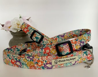 Liberty Dog Collar, Michelle, Floral Dog Collar