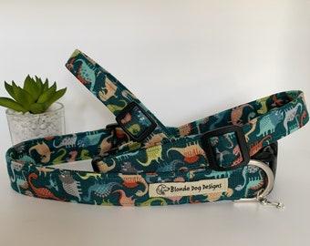 Dinosaur Dog Collar, Jurassic, Luxury Dog Collar