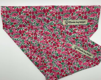 Liberty Dog Bandana, Petal & Bud, Floral Neckerchief