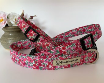Liberty Dog Collar, Petal & Bud, Floral Dog Collar