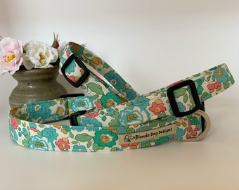 Liberty Dog Collar, Betsy Green, Floral Dog Collar