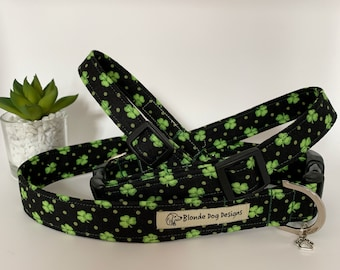 Shamrock Dog Collar, Lucky Clover, St Patricks Day Collar