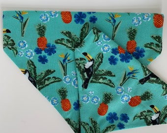 Tropical Dog Bandana, Toucan Play That Game, Pineapple Neckerchief