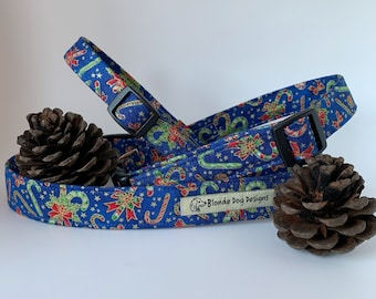 Candy Cane Collar, Christmas Dog Collar, Festive Collar