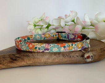 Liberty Cat Collar, Michelle, Floral Collar