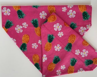 Tropical Dog Bandana, Pretty Pineapple, Fruity Neckerchief