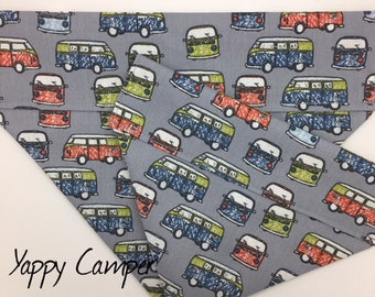 Camper Van Dog Bandana,Yappy Camper, Luxury Dog Neckerchief