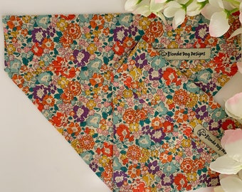 Liberty Dog Bandana, Michelle, Floral Neckerchief