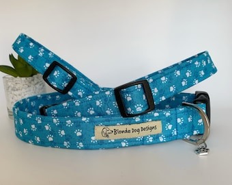 Paw Print Dog Collar, or, Dog Lead, Pawsome Paws