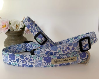 Liberty Dog Collar, or, Liberty Dog Lead, D'Anjo Blue