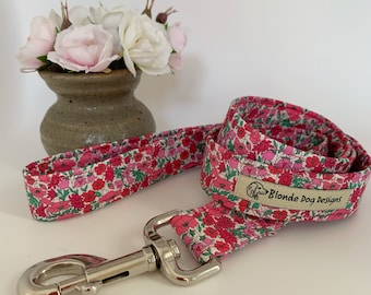 Liberty Dog Lead, Petal & Bud, Floral Dog Leash