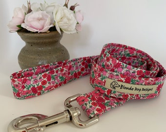 Liberty Dog Lead, Petal & Bud Pink, Floral Dog Leash