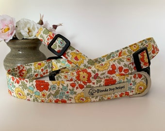 Liberty Dog Collar, D'Anjo Marigold, Floral Dog Collar