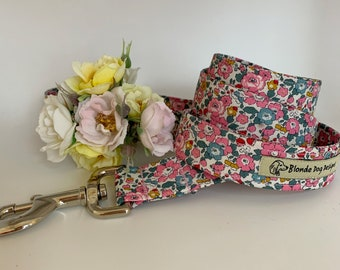 Liberty Dog Lead, Betsy-Ann Pink, Floral Dog Lead