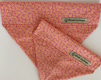 Liberty Dog Bandana, Speckle, Floral Neckerchief