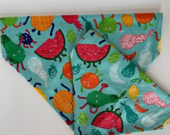 Tropical Dog Bandana, Fruit-tastic, Fruity Neckerchief