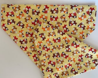 Fox Dog Bandana, Felix Fox Yellow, Fox Neckerchief