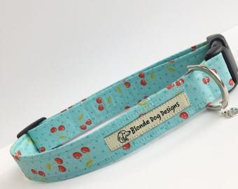 Cute Dog Collar, Cheeky Cherries, Pretty Dog Collar