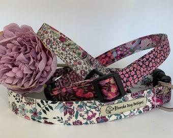 Liberty Dog Collar, Katherine's Patchwork, Floral Dog Collar