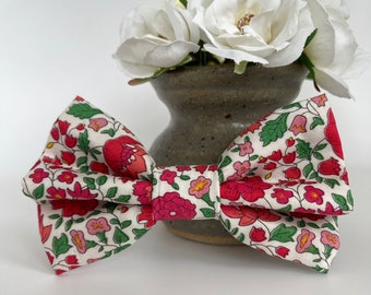Liberty Dog Bow, D'Anjo Red, Floral Bow Tie