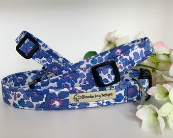Liberty Dog Collar, Betsy Blue, Floral Dog Collar