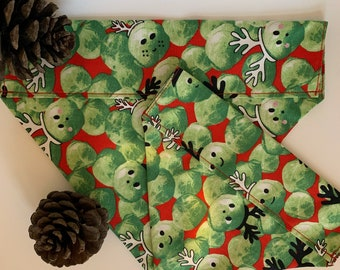 Christmas Dog Bandana, Festive Sprouts, Festive Neckerchief
