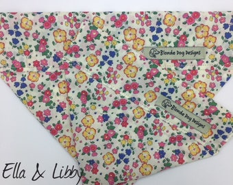 Liberty Dog Bandana, Ella & Libby, Floral Neckerchief