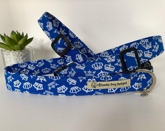 Crown Dog Collar, Crowning Glory, Blue Dog Collar