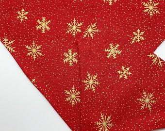 Christmas Bandana, Golden Snowflake, Festive Neckerchief