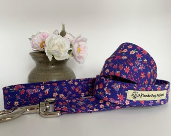 Liberty Dog Lead, Lily-Mae Purple, Floral Dog Leash