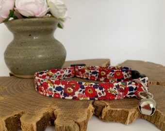 Liberty Cat Collar, Betsy Ann, Floral Collar
