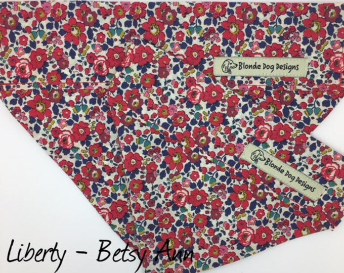 Featured listing image: Liberty Dog Bandana, Betsy Ann, Floral Neckerchief